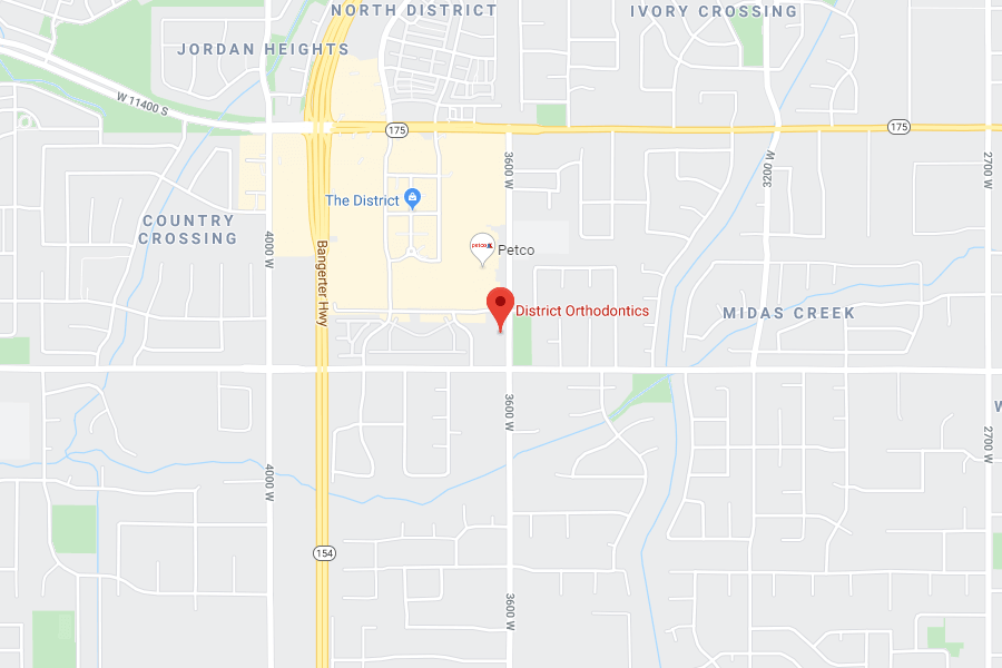 Map of District Orthodontics UT Location