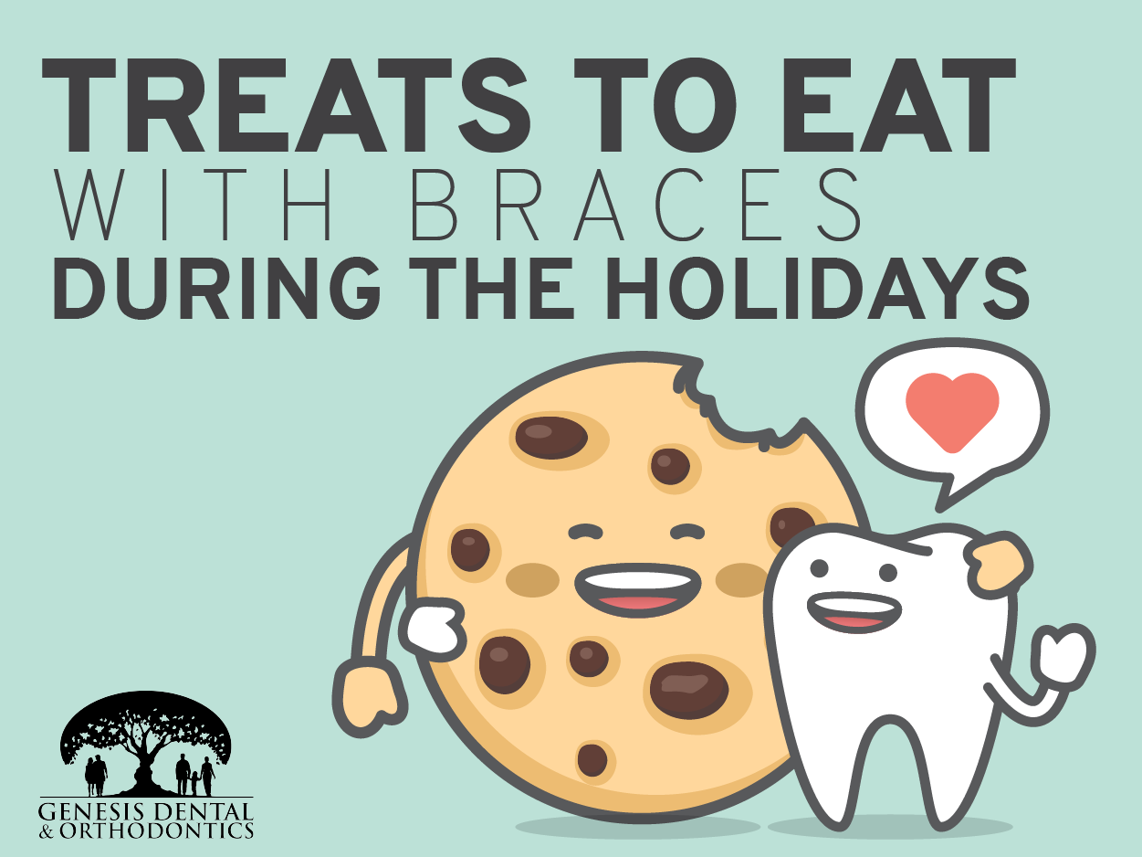 treats to eat with braces during the holidays graphic
